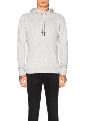 Saint Laurent Hoodie in Grey - Gray. Size L (also in M, S, XL, XS).