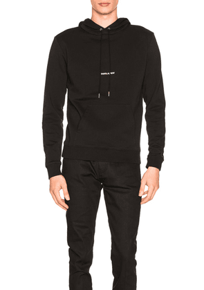Saint Laurent Classic Hoodie in Black - Black. Size S (also in M, XS).