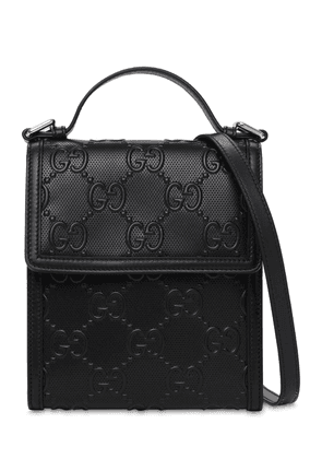 Gg Debossed Leather Crossbody Bag