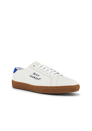 Saint Laurent SL06 Signa Low Top Sneaker in Black & Blue - Blue,White. Size 42 (also in 44).