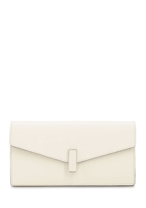 Iside Grained Leather Clutch