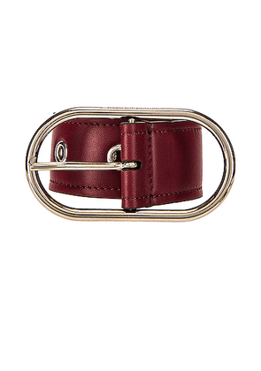 Acne Studios Masculine Large Belt in Burgundy - Red. Size L (also in M, S).