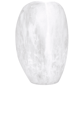 DINOSAUR DESIGNS Bold Skipping Stone Vase in Swirl White & Clear - Beauty: NA. Size all.