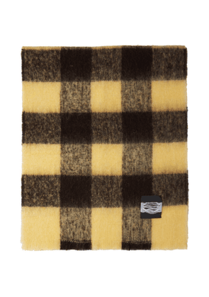 Our Legacy Brown and Yellow Check Blanket Scarf