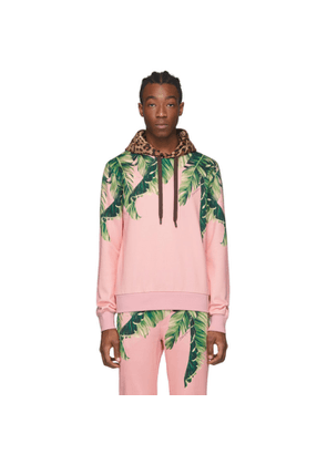 Dolce and Gabbana Pink Floral and Leopard Hoodie