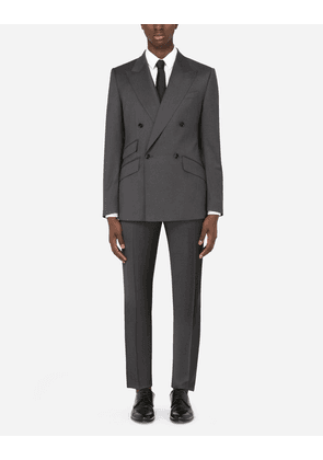 Dolce & Gabbana Suits - DOUBLE-BREASTED THREE-PIECE WOOL SICILIA-FIT SUIT MULTICOLOR male 48