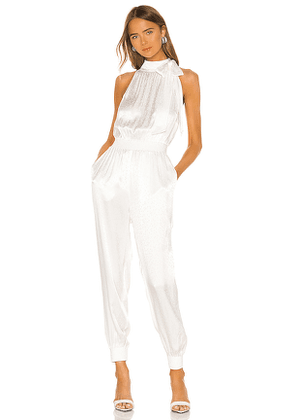 Cinq a Sept Romina Jumpsuit in White. Size S, XS.
