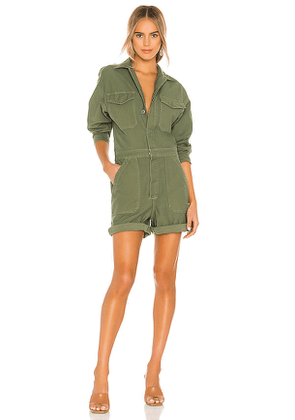 Citizens of Humanity Marta Romper in Army. Size XS.
