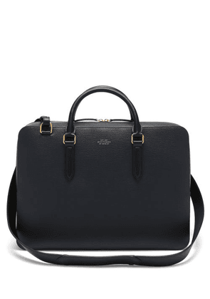 Smythson - Ludlow Grained-leather Briefcase - Mens - Navy