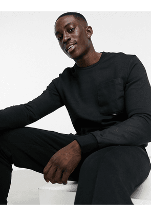Only & Sons sweat with utility pocket in black