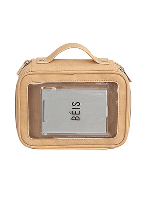 BEIS On the Go Essentials Case in Taupe.