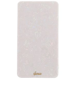 Sonix Pearl Tort Portable Charger in White.