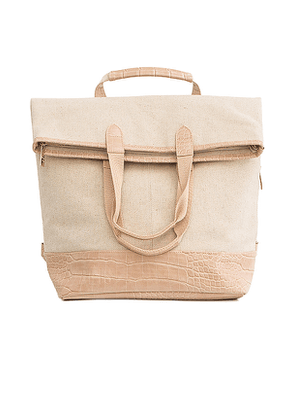 BEIS Convertible Backpack in Cream.