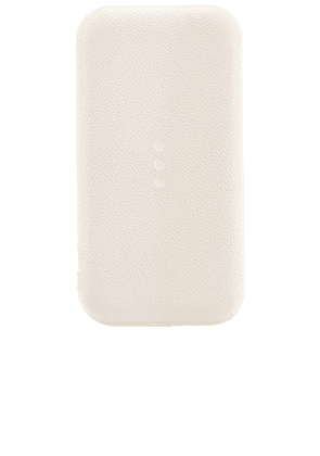 Courant Carry:1 Portable Charger in White.