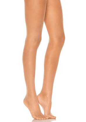 Wolford Individual 10 Tights in Tan. Size L, S, XS.