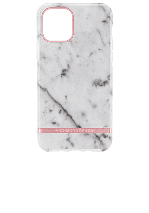 Richmond & Finch Black Marble iPhone 11 Pro Case in White.