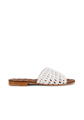 Carrie Forbes Mour Sandal in White. Size 37, 40.