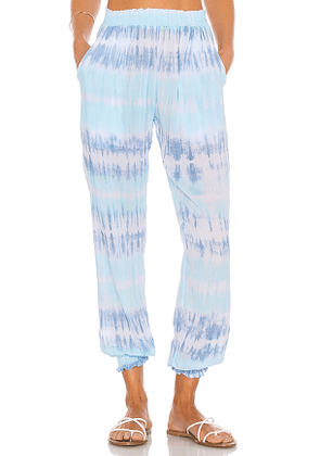 coolchange Bodrum Tie Dye Pant in Baby Blue. Size M.