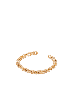 Amber Sceats Link Cuff Bracelet in Metallic Gold.
