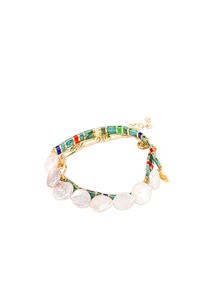 SHASHI Tilu Duo Bracelet Set in Blue.