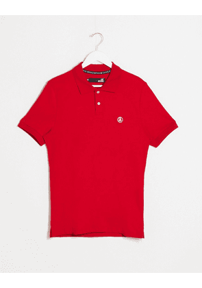 Love Moschino plaque polo shirt-Red