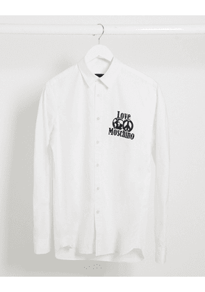 Love Moschino peace logo long sleeve shirt-White
