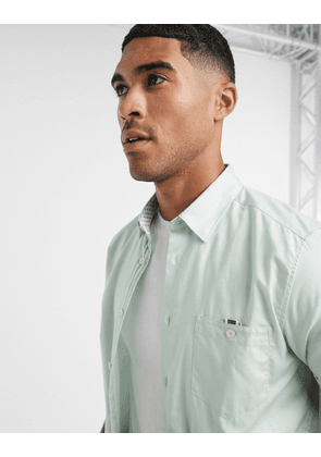 Ted Baker wallo oxford short sleeve shirt in mint-Green