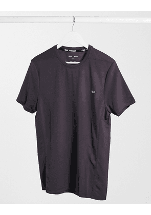 ASOS 4505 icon training t-shirt with quick dry in brown