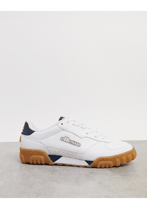 Ellesse cupsole tanker trainers with gum sole in white