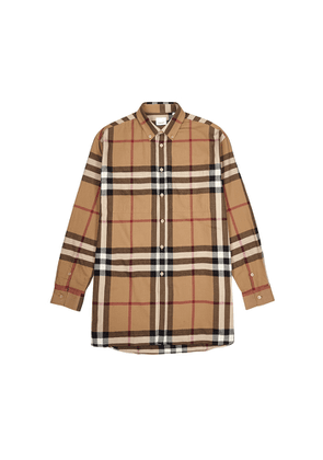 Burberry Checked Brushed Cotton Shirt