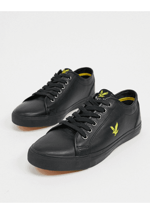 Lyle & Scott Teviot leather trainers-Black