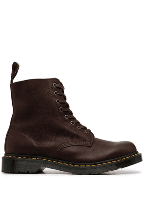 Dr. Martens chunky lace-up ankle boots - Brown