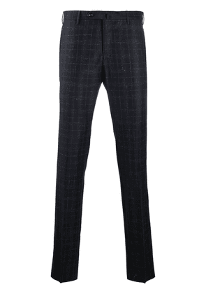 Pt01 checked wool trousers - Blue