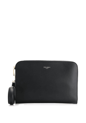 Dolce & Gabbana logo print clutch bag - Black