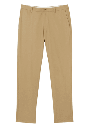 Burberry slim-fit cotton chinos - Brown
