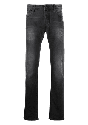 Jacob Cohen faded-effect slim jeans - Grey