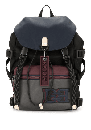 Bally contrast panel leather backpack - Multicolour