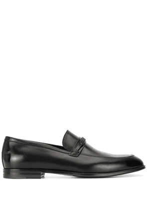Bally logo-plaque loafers - Black