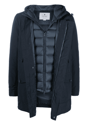 Woolrich layered padded coat - Blue