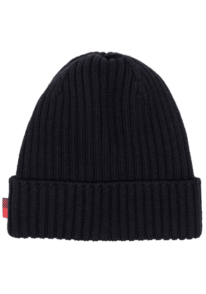 Woolrich ribbed knit beanie - Blue