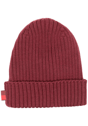Woolrich ribbed knit beanie - Red