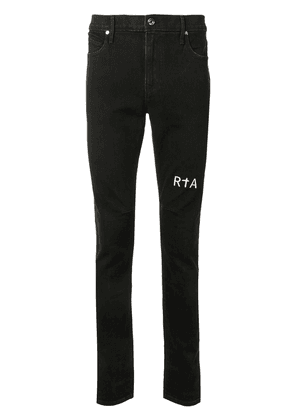 RtA logo-embroidered skinny jeans - Black