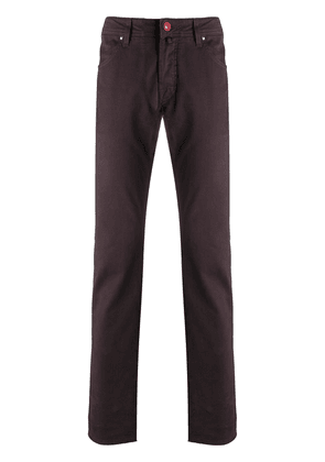 Jacob Cohen straight leg trousers - Red
