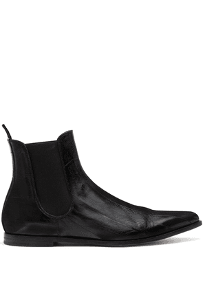 Dolce & Gabbana panelled pointed-toe ankle boots - Black