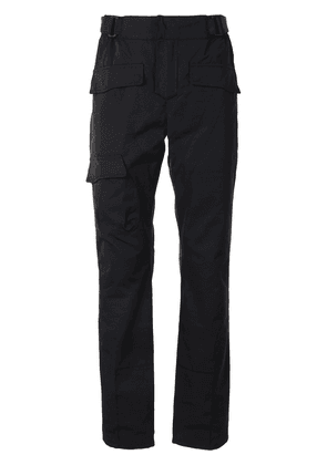 RtA straight leg buckle detail trousers - Black