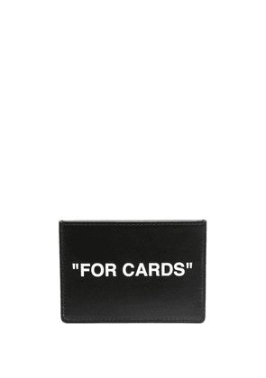 Off-White logo print cardholder - Black