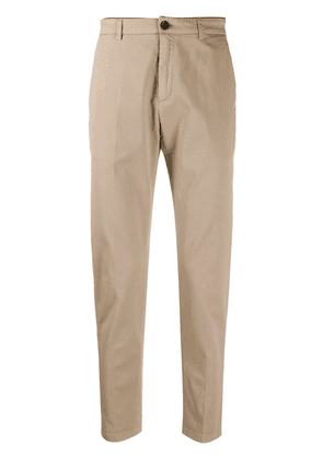 Department 5 slim fit pleated detail chino trousers - Neutrals