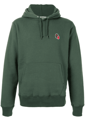 A BATHING APE® double embroidered logo hoodie - Green