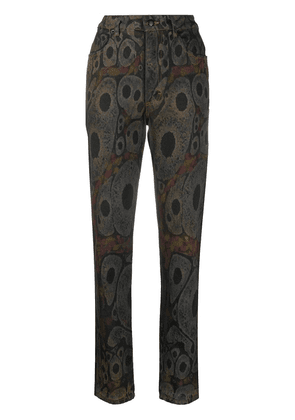 Eckhaus Latta abstract-print straight jeans - Neutrals