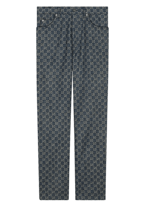 Gucci GG denim trousers - Blue
